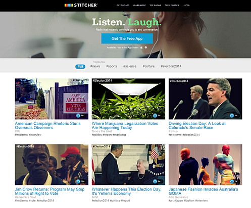 Stitcher Front Page