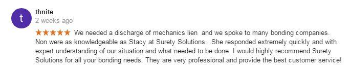 discharge of mechanics lien bond