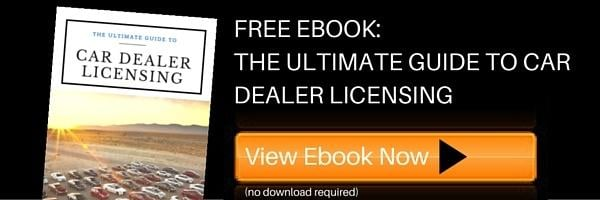 Car dealer licensing ebook